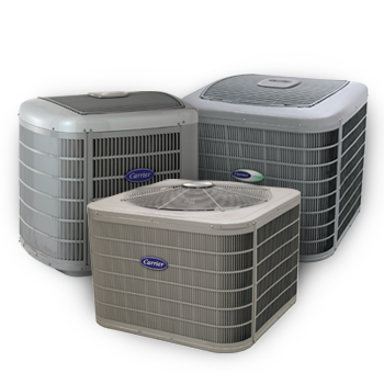 Three different outdoor air conditioners