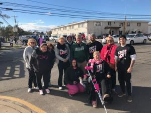 AJ Perri team who participated in the walk for breast cancer