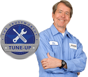 Trustworthy Tune-Up logo and a maintenance technician