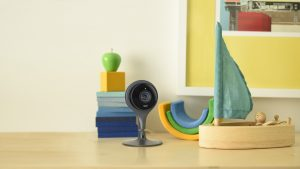 NEST Cam sitting on desk