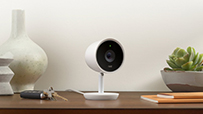 NEST Cam IQ sitting on desk