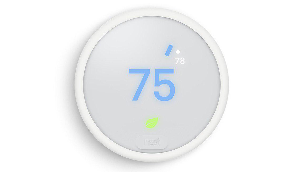 NEST thermostat showing leaf symbol