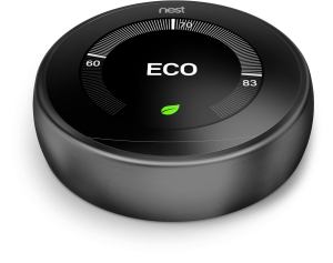 NEST Thermostat in black