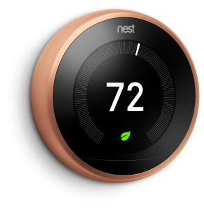NEST Thermostat in Copper