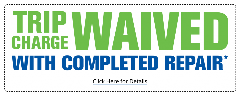 Trip Charge Waived With Completed AC Repair