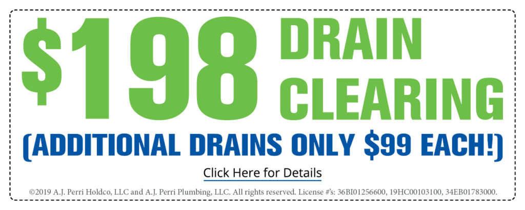 $198 Drain Clearing