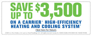 Save up to $3500 on a Carrier high-efficiency heating and cooling system