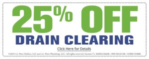 25 Percent Off Drain Clearing