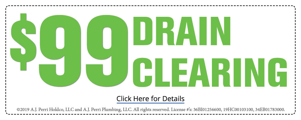 $99 drain clearing coupon